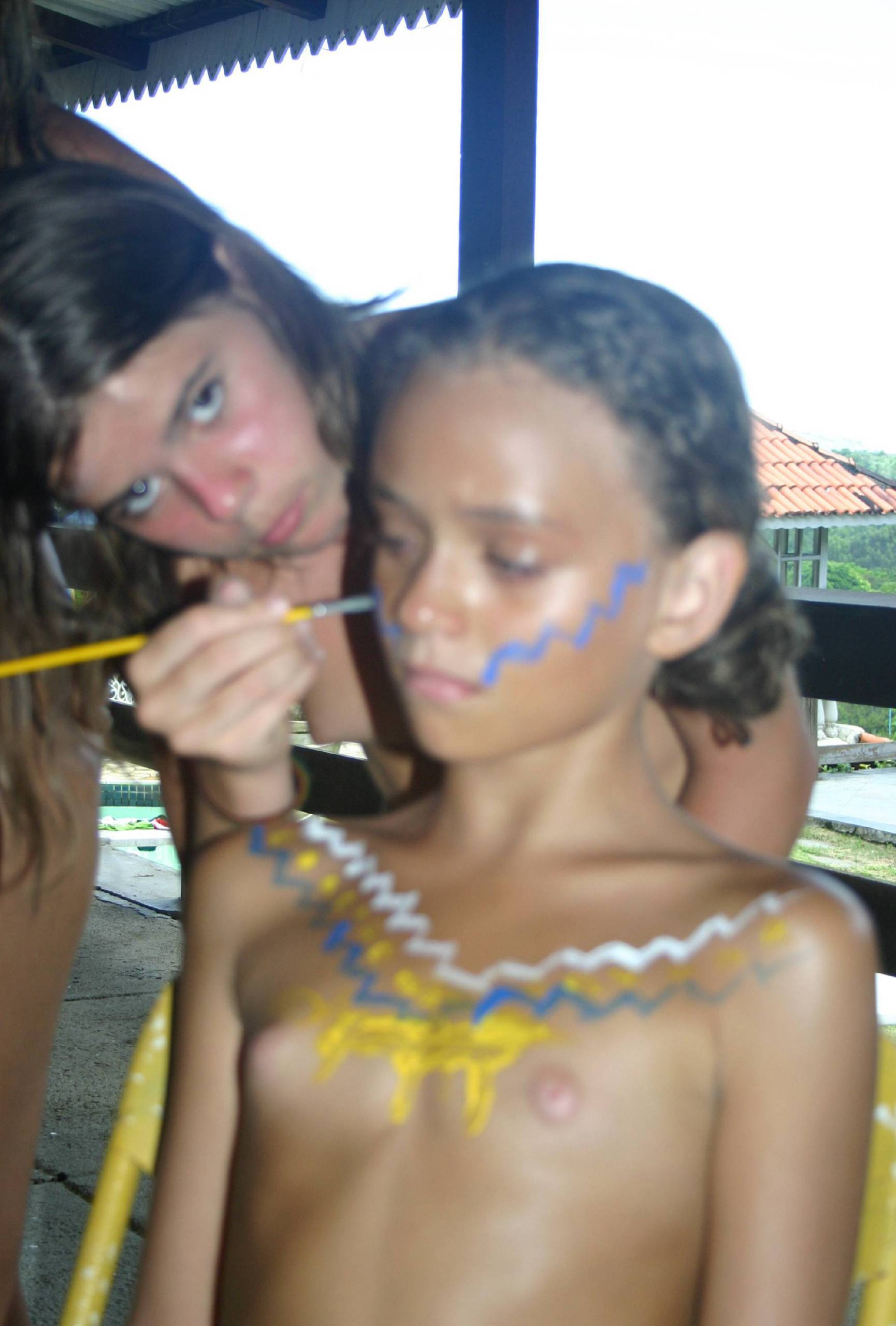 Brazilian Kid Body Painting - 2