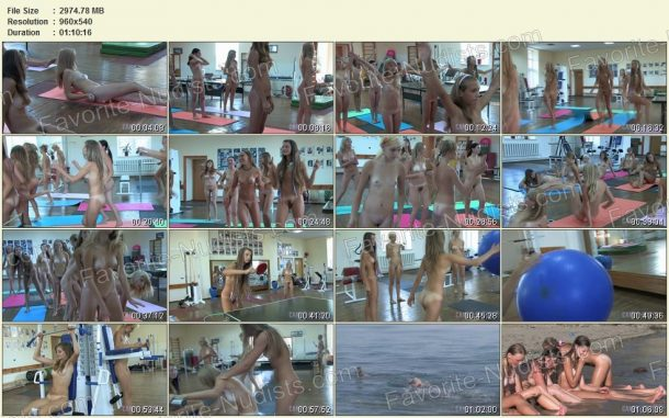 Frames of Teen Nudist Workout 2 1