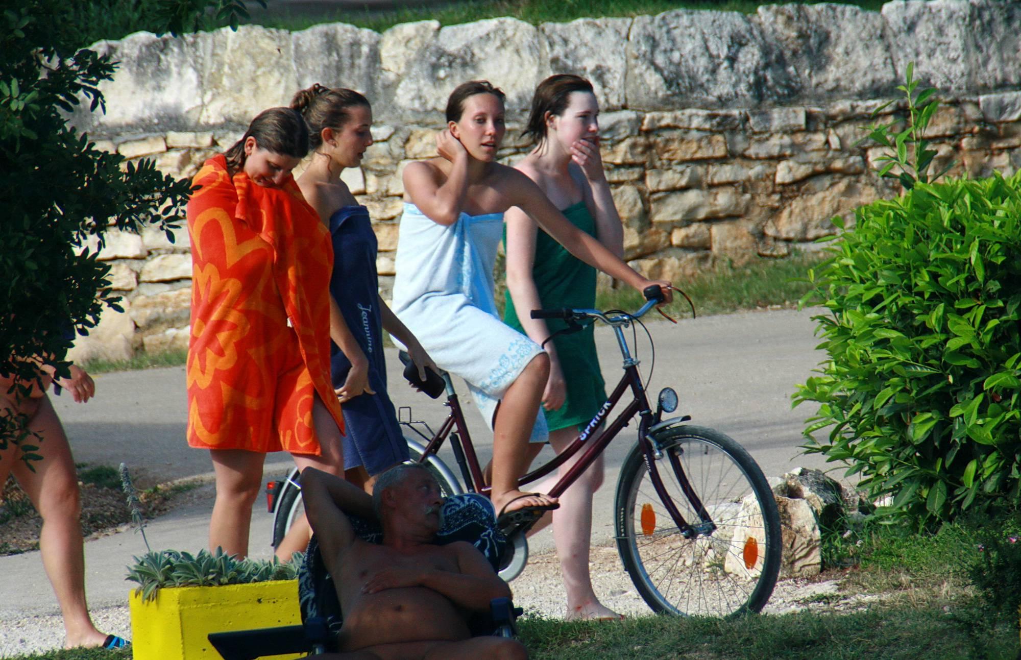 Nudist Photos Colorful Towel Sun Drying - 2