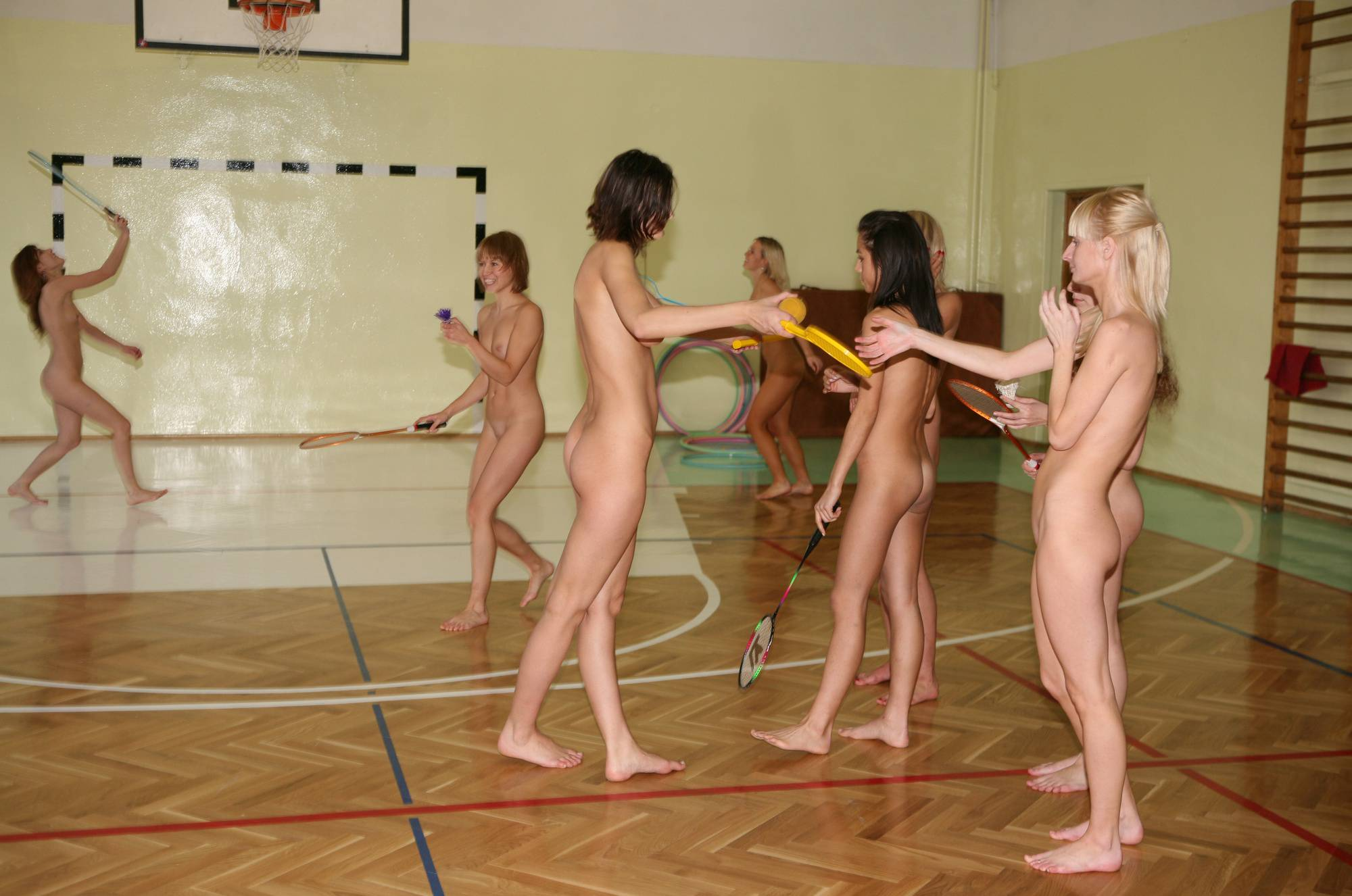 Nudist Photos Gym Babington and Rackets - 1