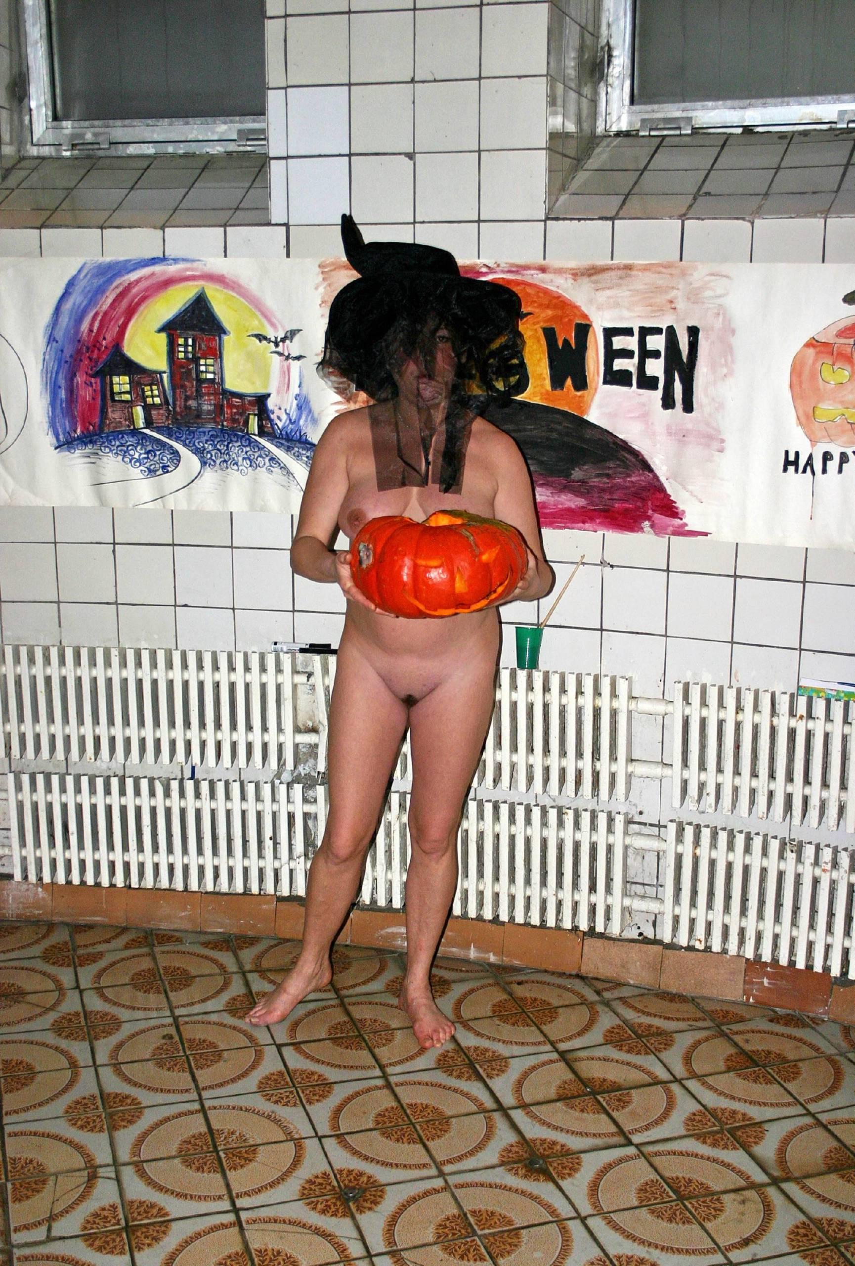 Nudist Photos Halloween Pumpkin Stack - 1