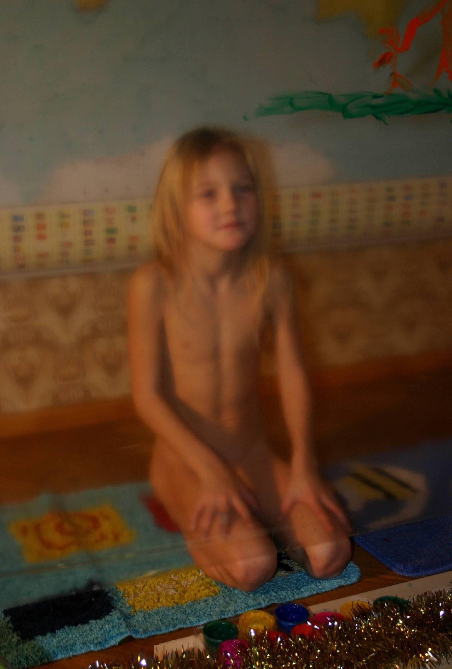 Nudist Photos Indoor Finger Painting - 1