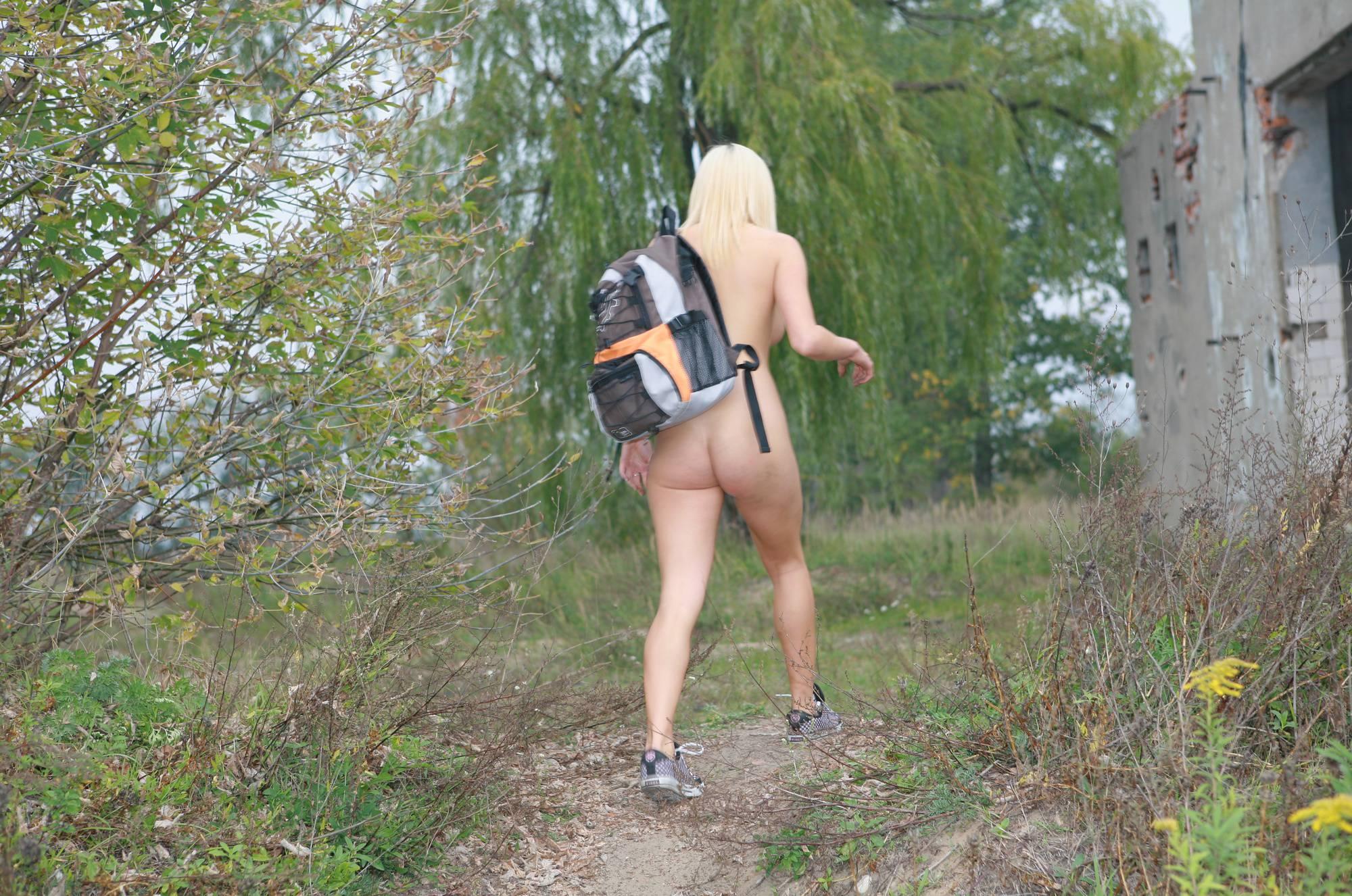 Nudist Photos Jess' College Bike Walk - 1