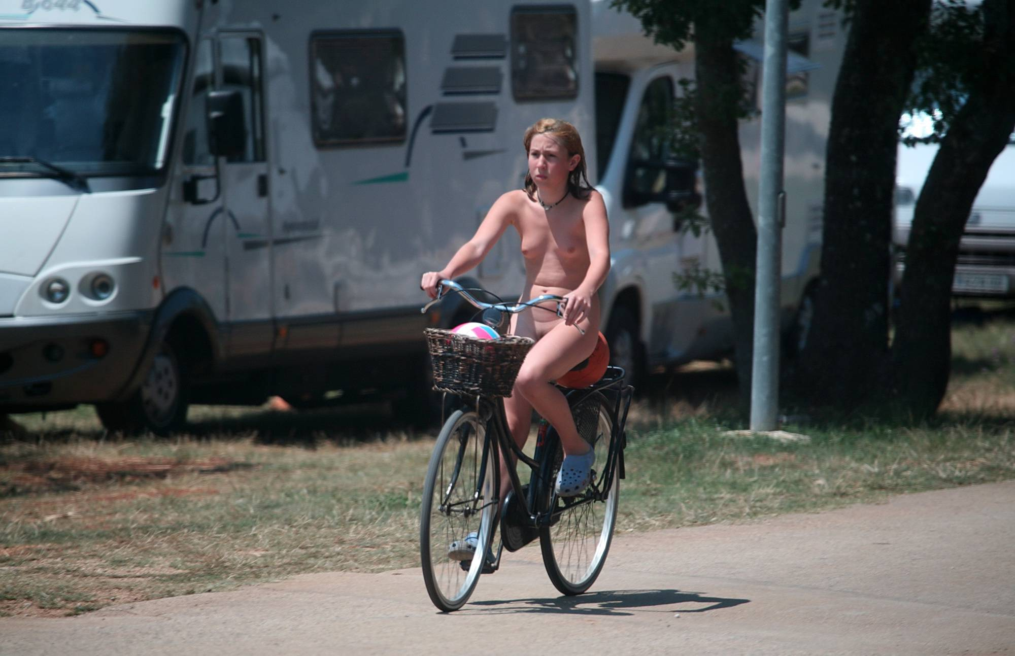 Nudist Pictures Leaving the Outdoor Site - 2