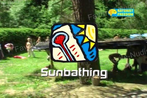 Sunbathing frame