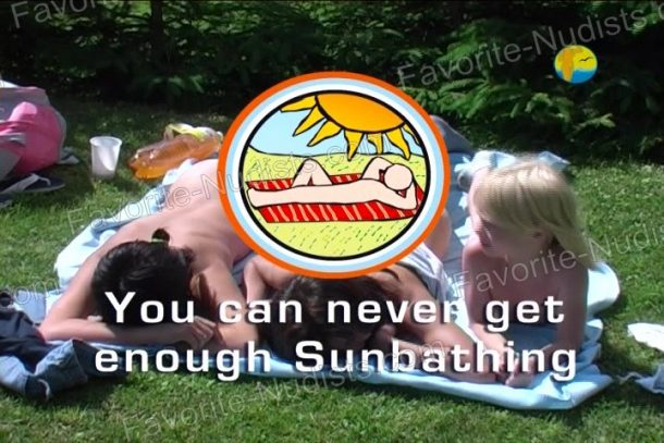 Shot of You can never get enough Sunbathing
