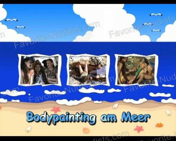 Bodypainting am Meer shot