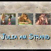 Julia am Strand