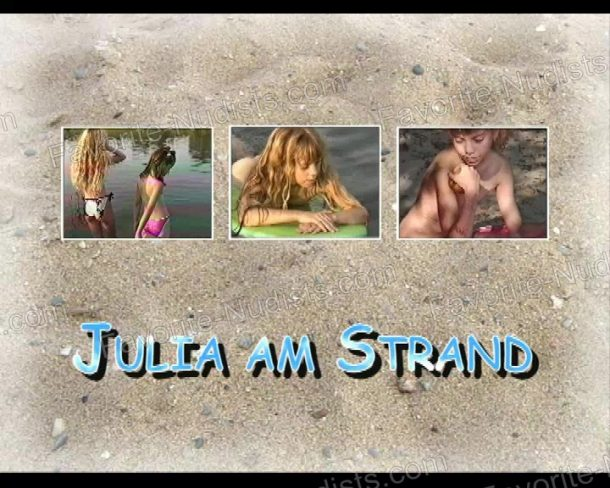 Snapshot Julia am Strand