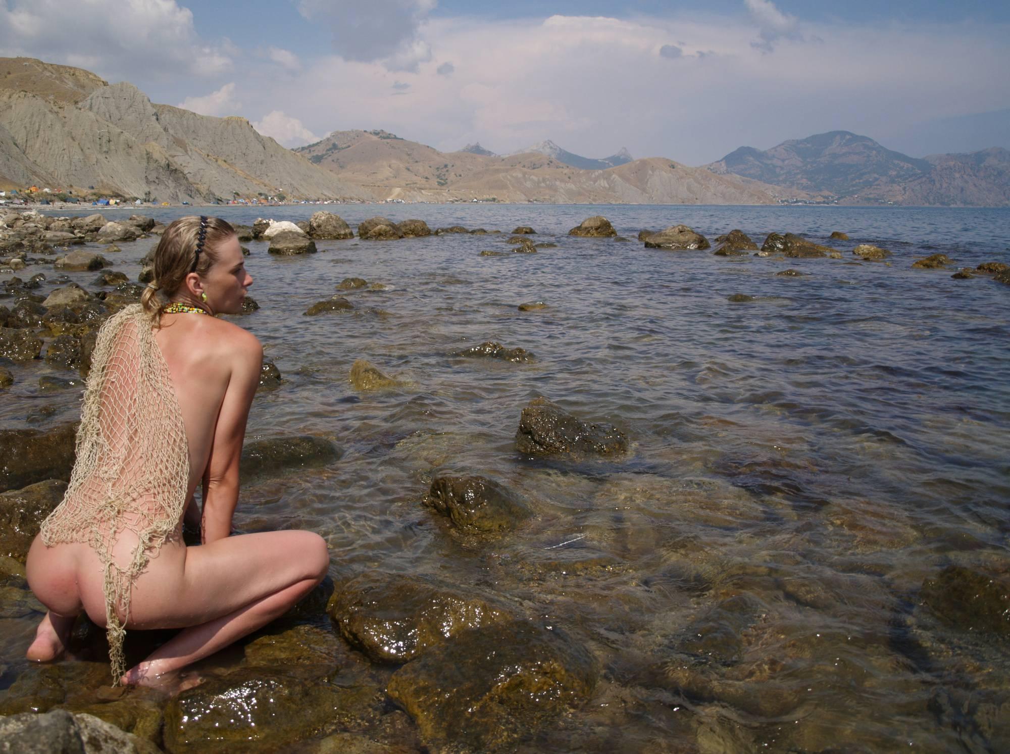 Nudist Pics Naturist Model and Daughter - 1