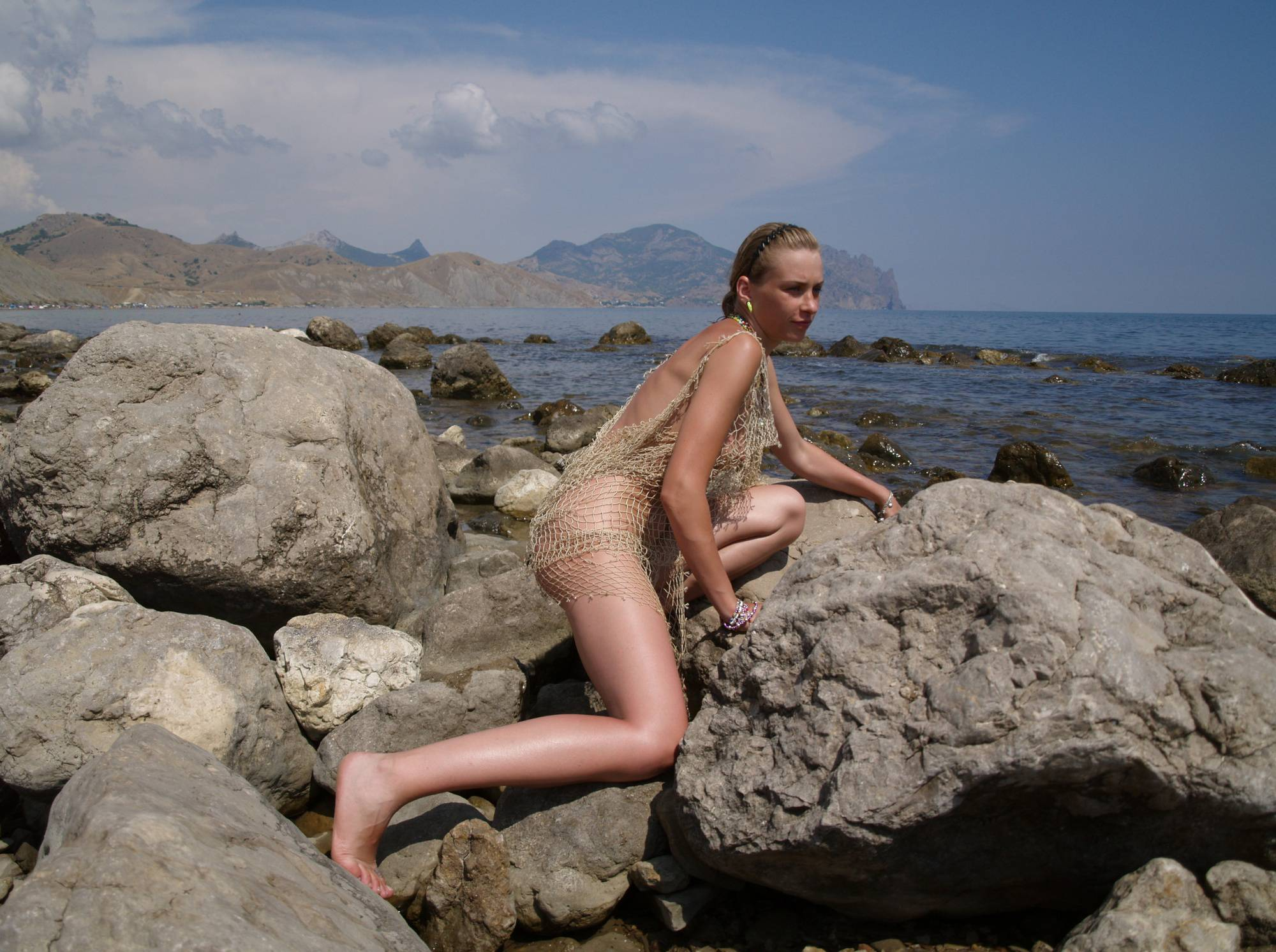 Nudist Pictures Naturist Model and Daughter - 2