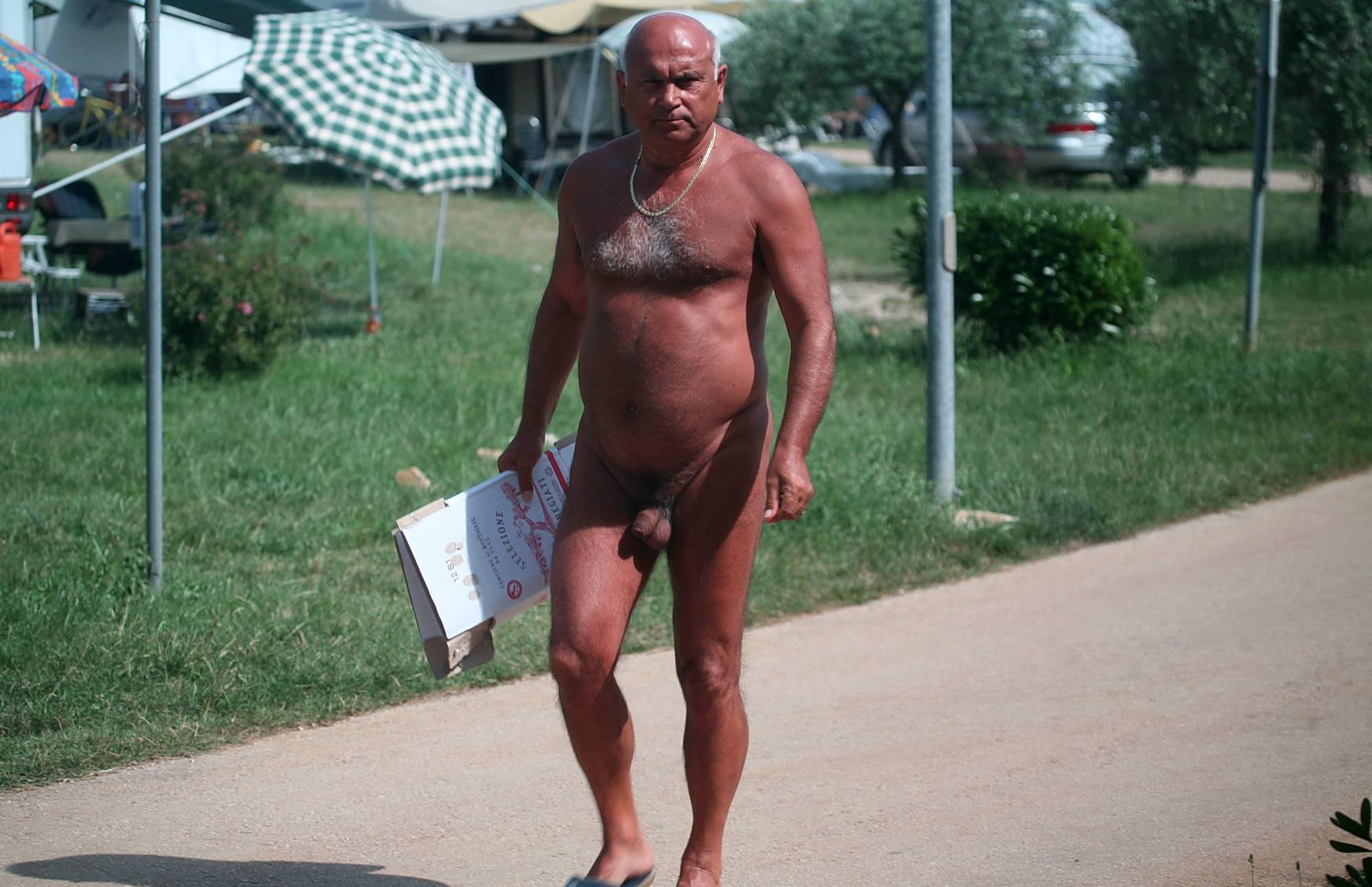 Nudist Pics Naturist Sidewalk Stroll - 2
