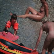 Nude Red Boating for Two