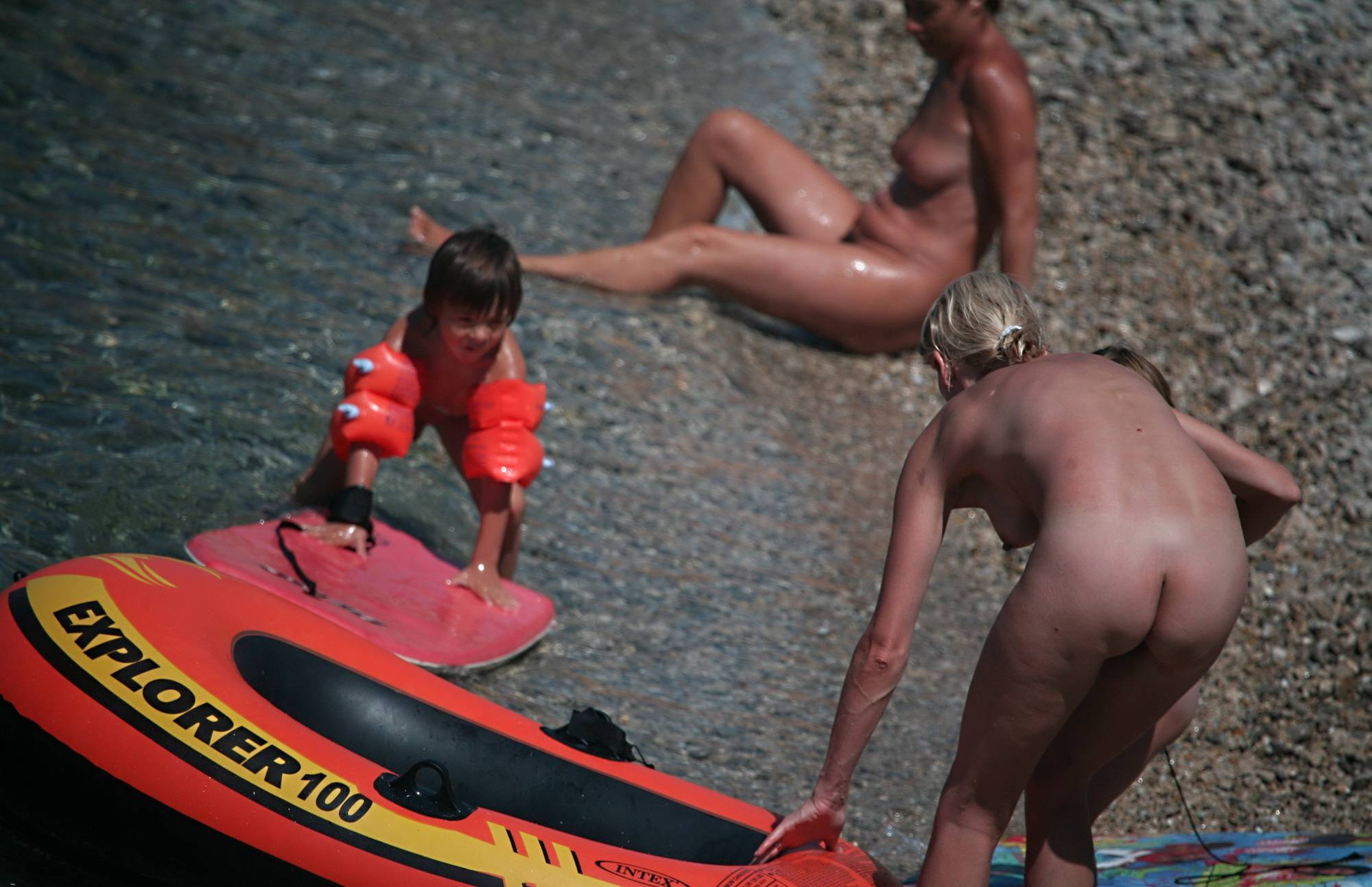 Nude Red Boating for Two - 1