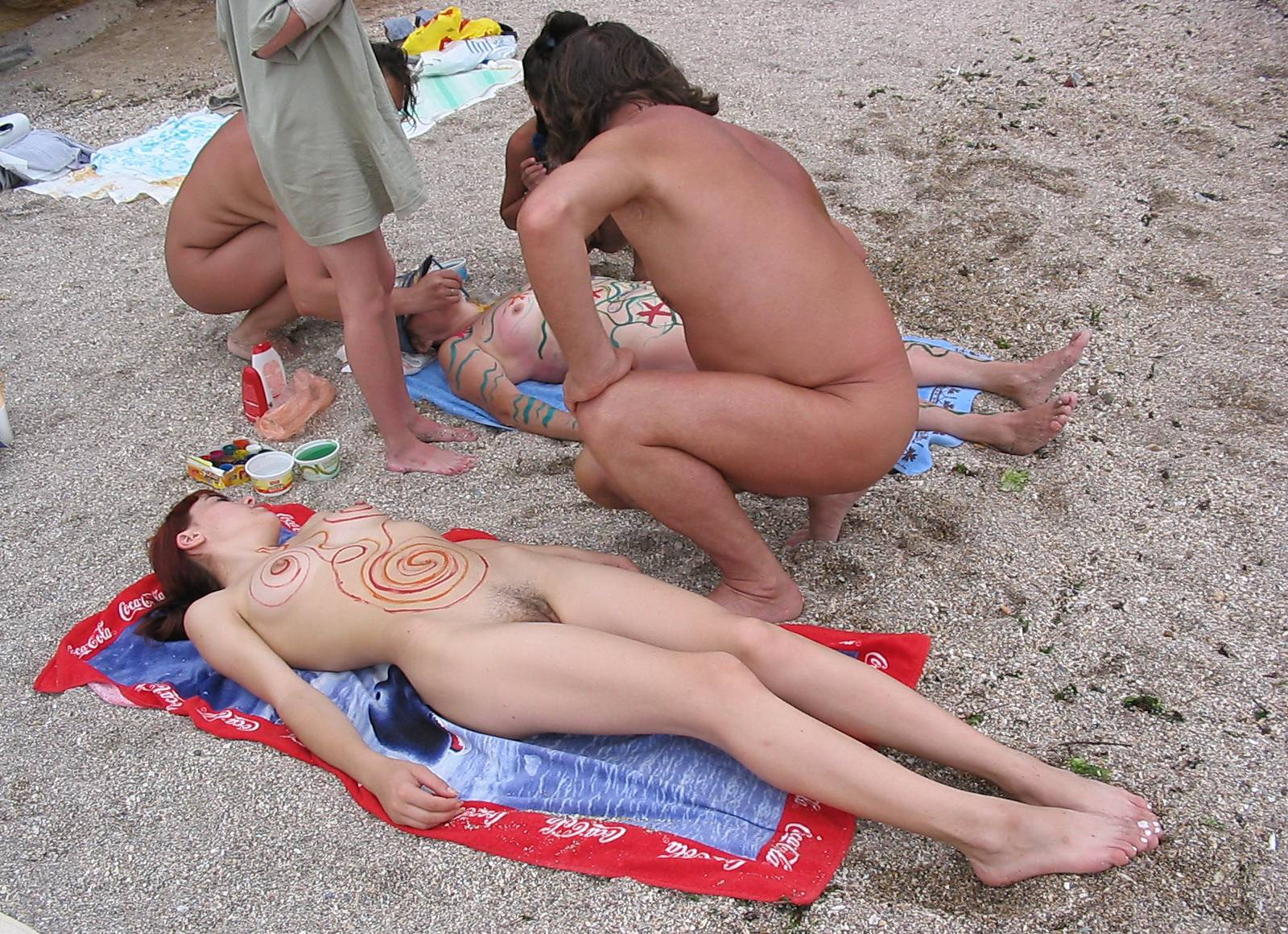 Black Sand Body Painting - 2
