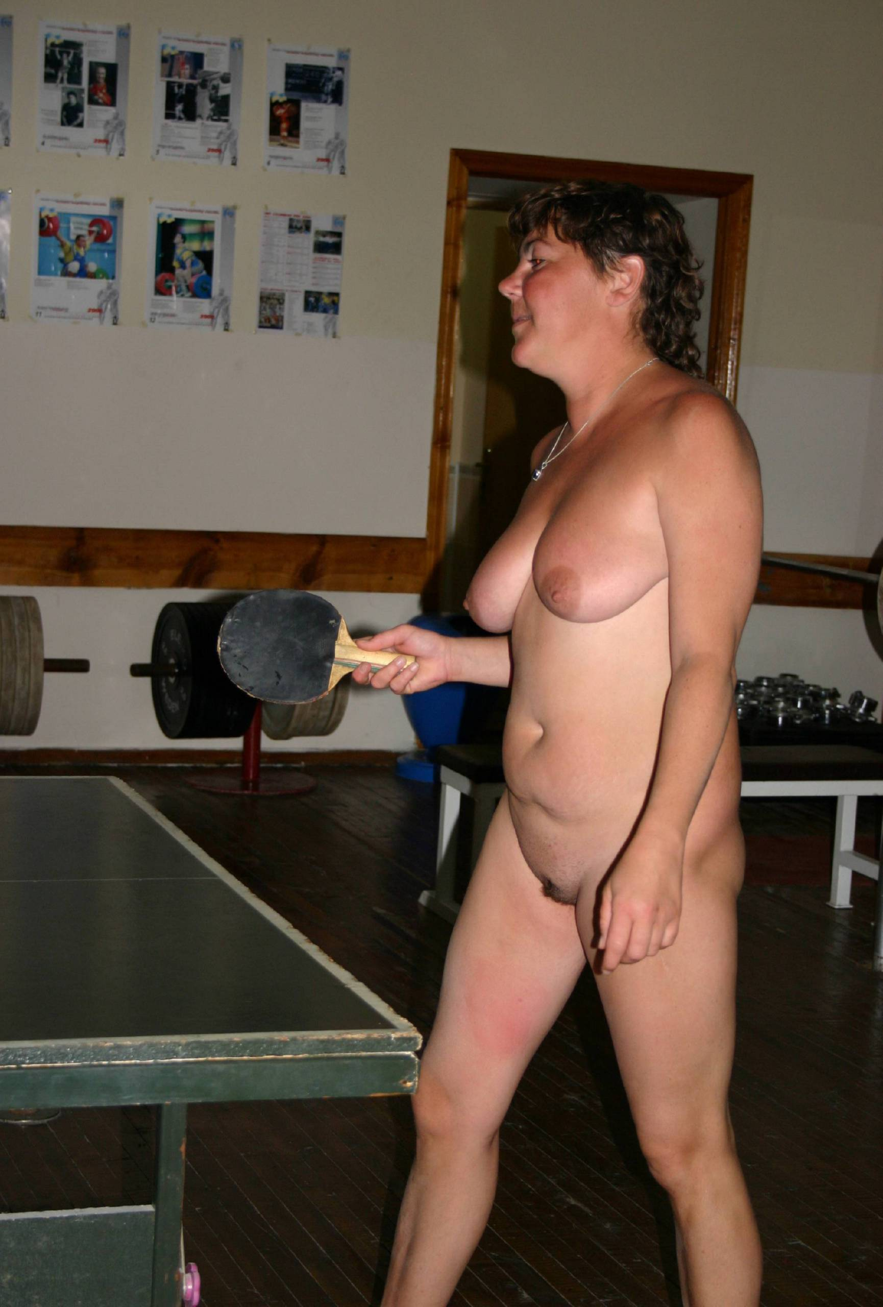 Family Nudist Gym Shots - 1