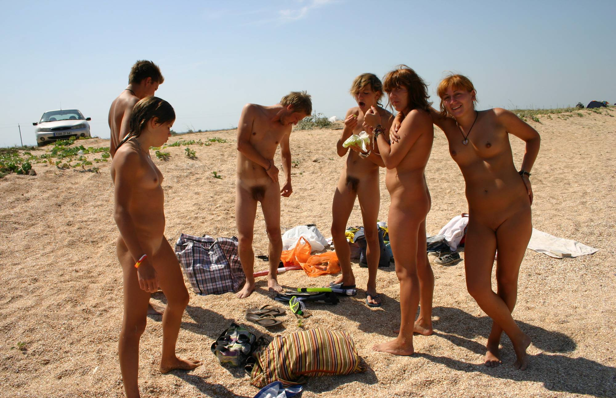 Nudist Pictures Grapes and Beach Games - 2
