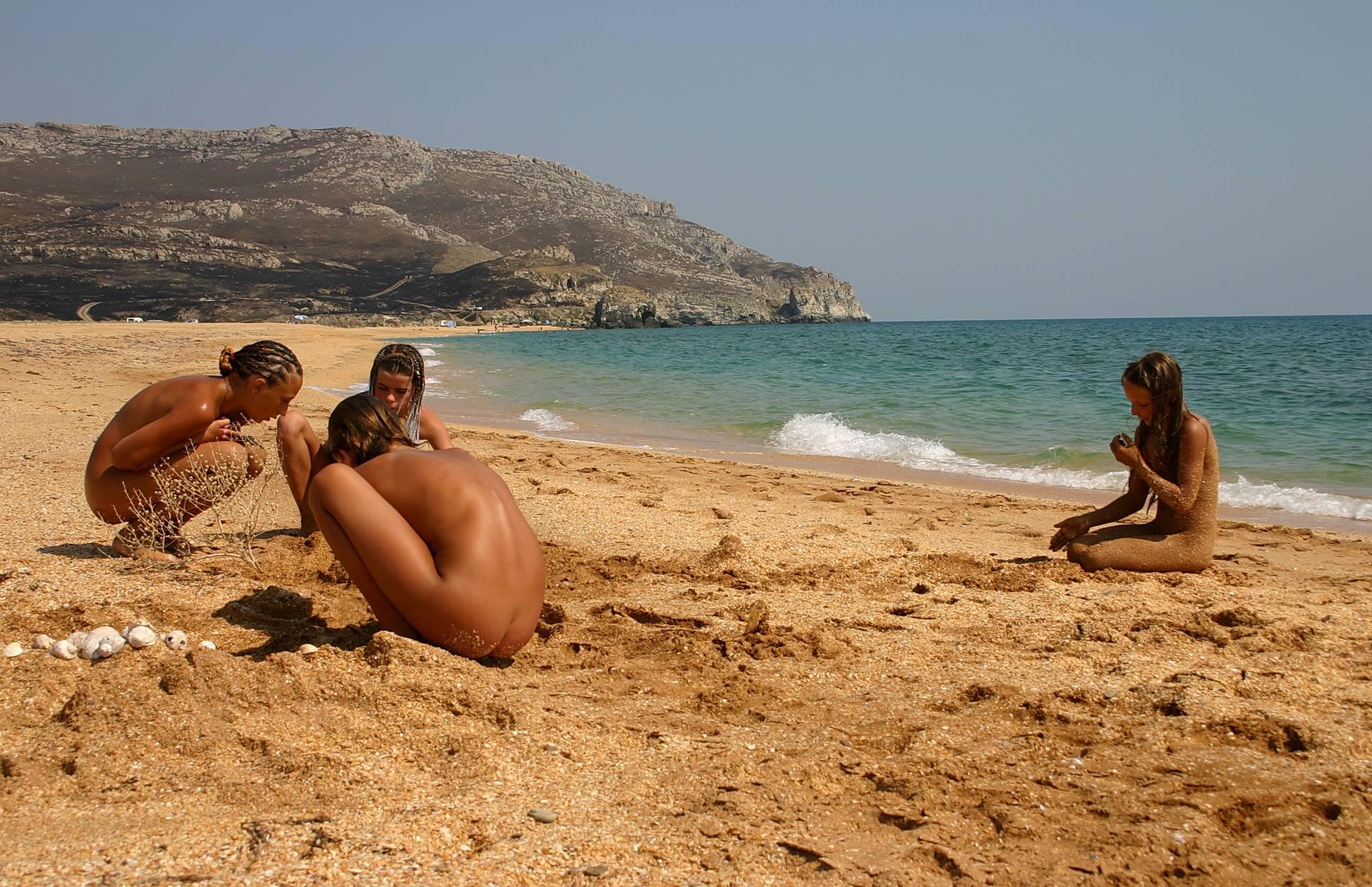Nudist Pics Beachside Sandy Mermaid - 1