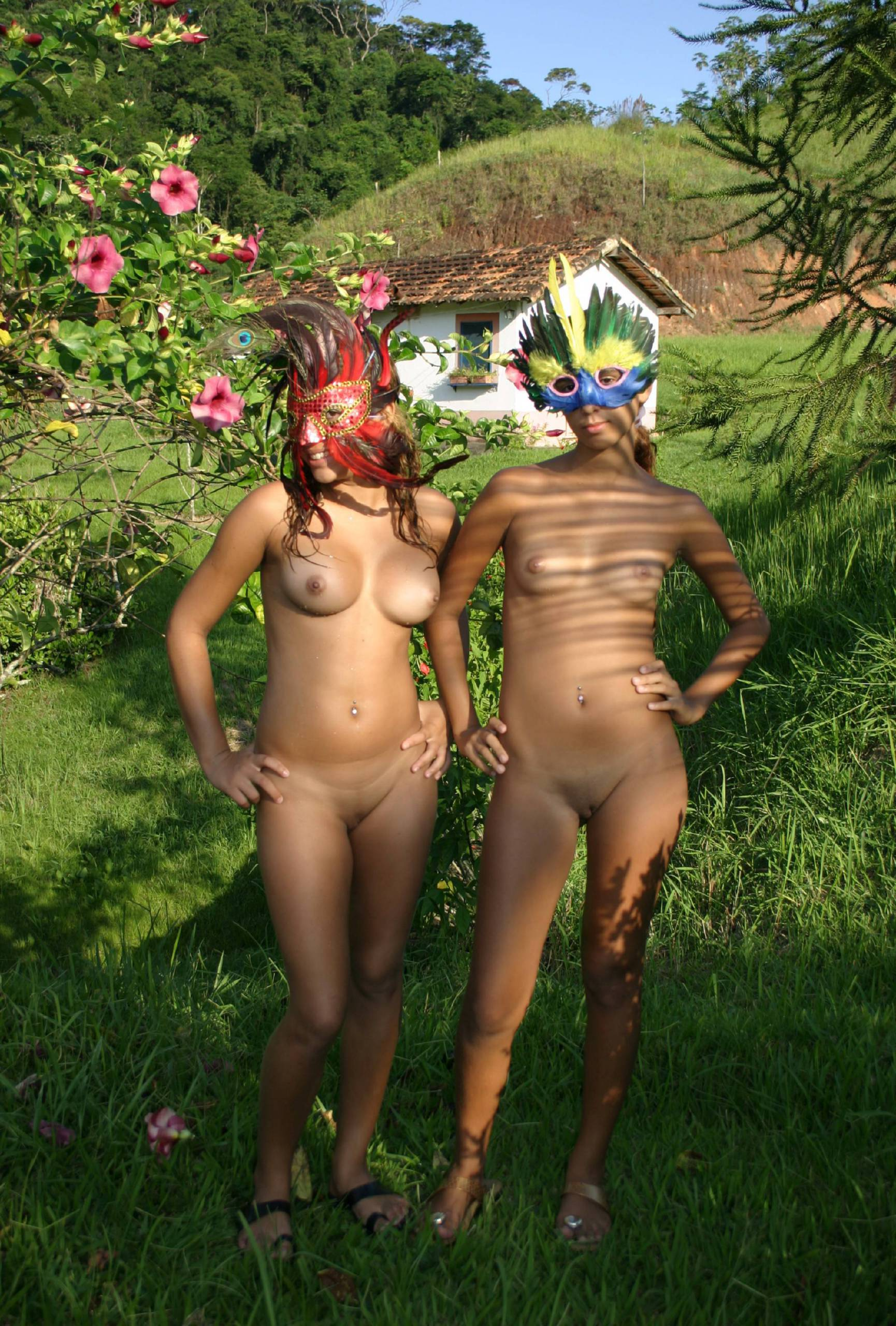 Nudist Gallery Brazilian Duel Mask Shoot - 2
