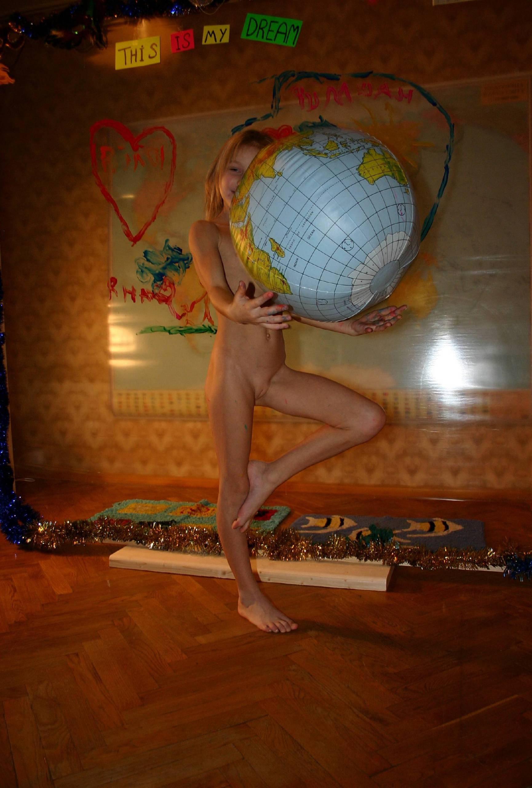 Nudist World Play Posing - 2