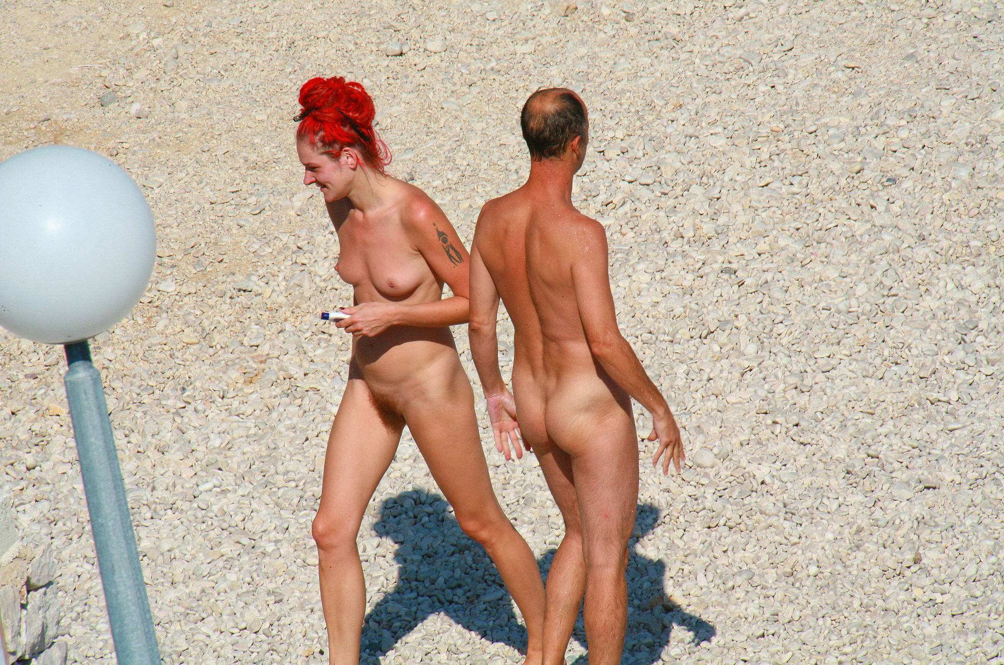 Nudist Photos Ula FKK Red Hairstyle Girl - 1