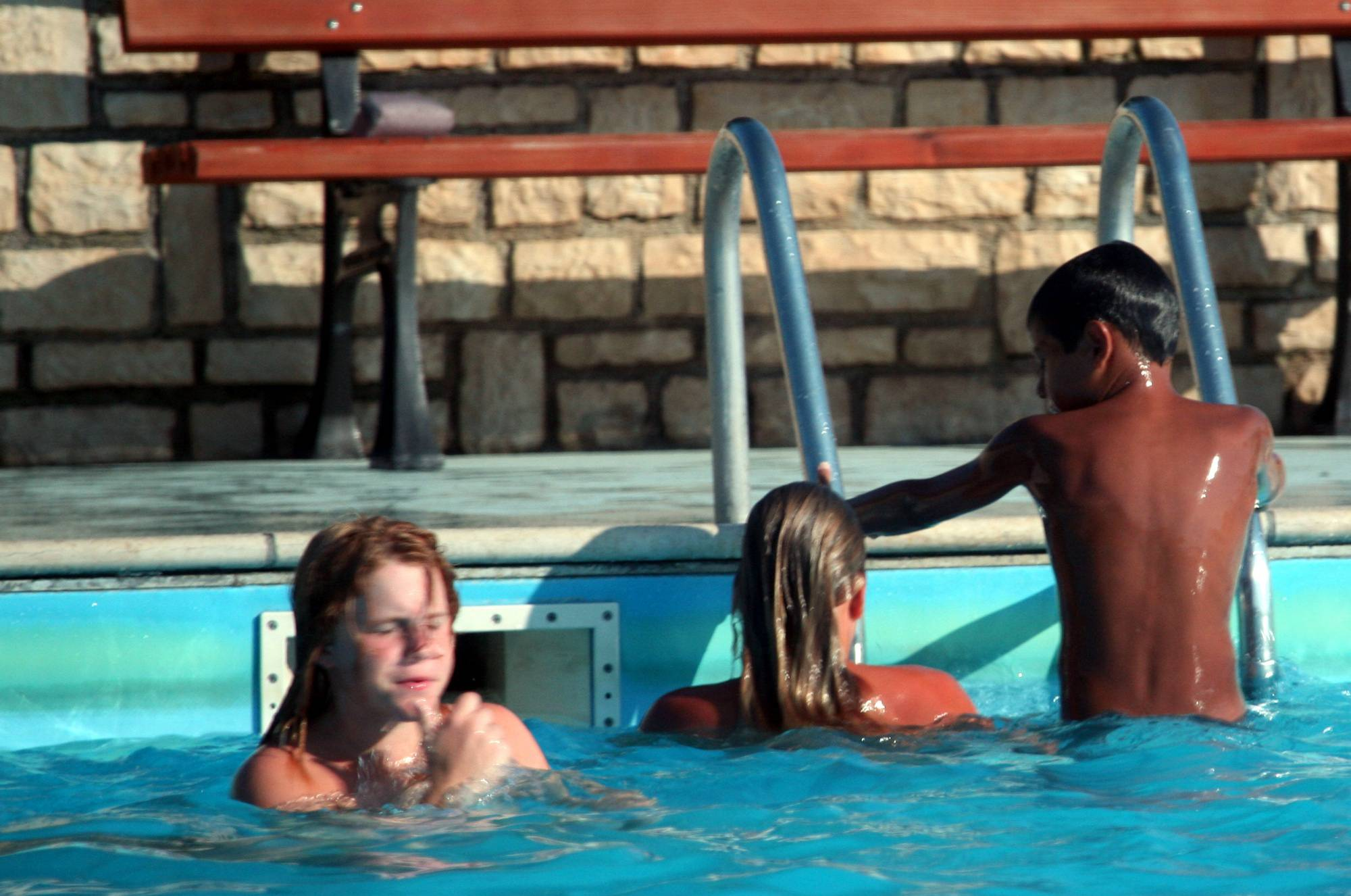 Nudist Pictures Nudist Pool Jumping Time - 1