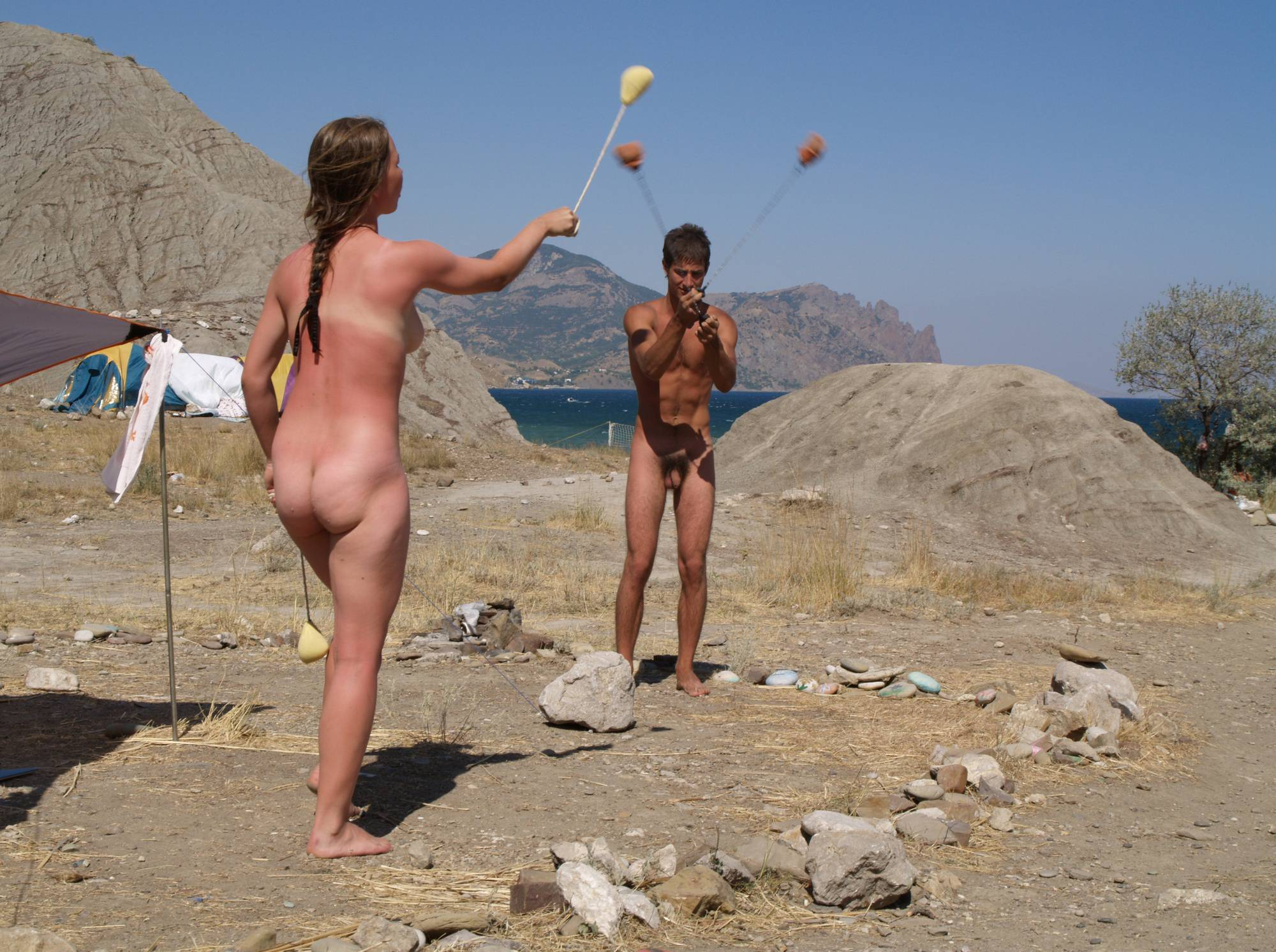 Nudist Gallery Outdoor Swinging Angels - 1