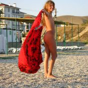 Red Scarlet Beach Dance