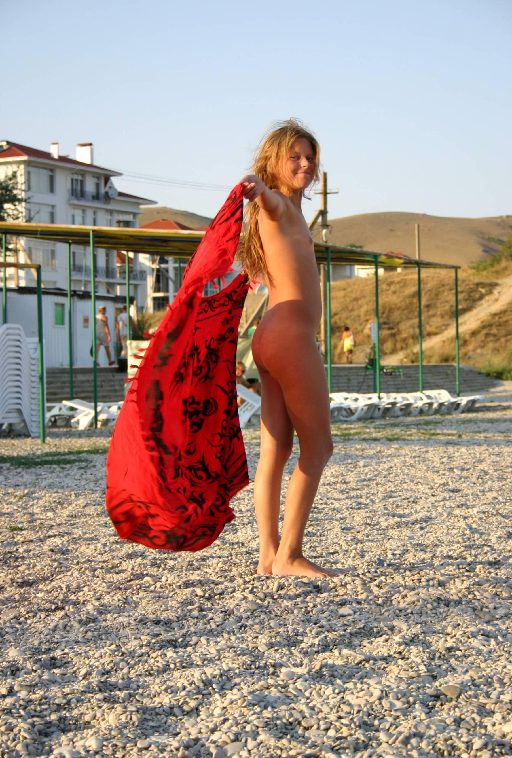 Red Scarlet Beach Dance - 1