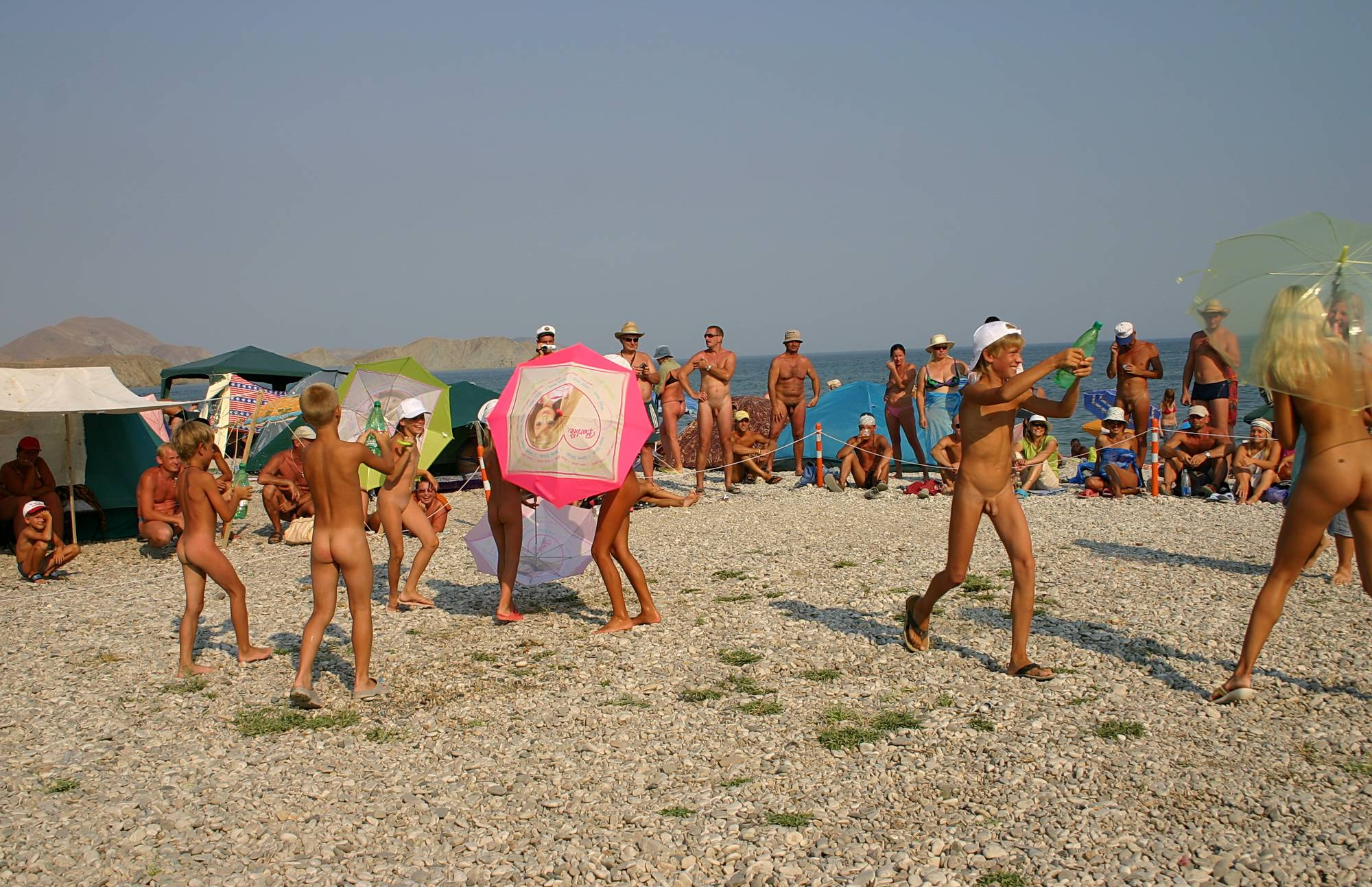 Nudist Photos Ribbon and Umbrella Dance - 2