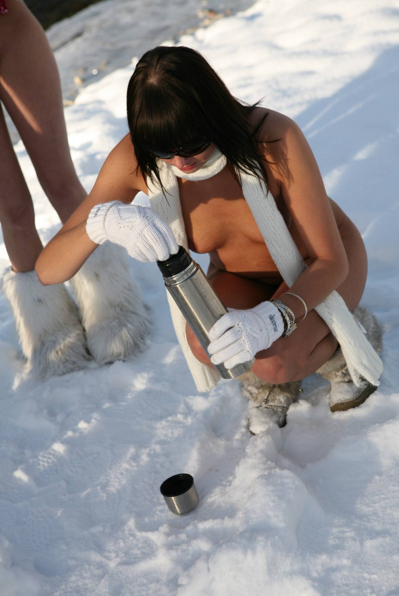 Nudist Pictures Snow Day Fire Drinks - 1