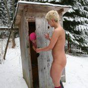 Snowy Woods Peek-A-Boo